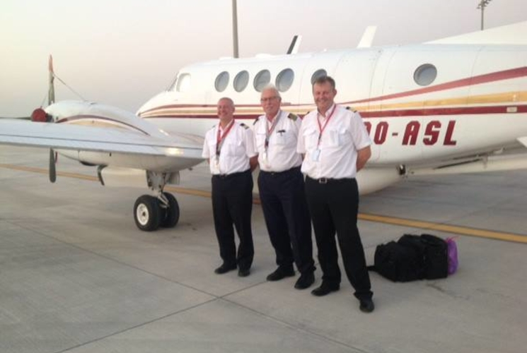 ASL's Beech 200 relays live images from Doha during the Road World Championship