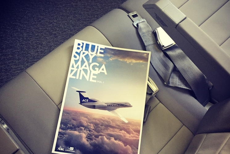 ASL and JetNetherlands launch their new in-flight magazine - Blue Sky Magazine